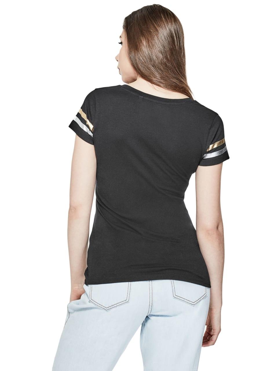 GUESS-Factory-Women-039-s-Orlando-City-Logo-V-Neck-Short-Sleeve-Varsity-Tee thumbnail 8