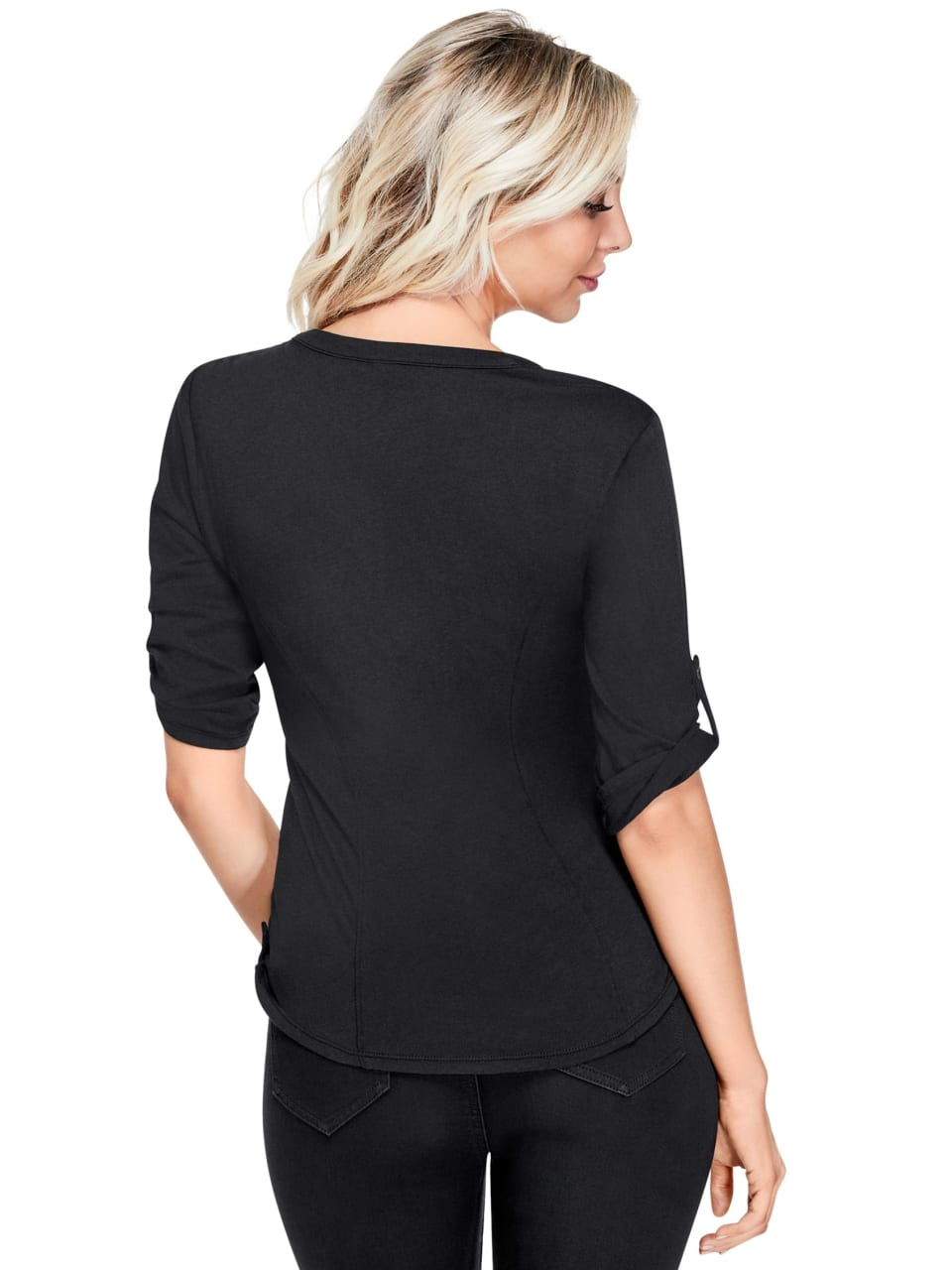 GUESS-Factory-Women-039-s-Skylar-Flap-Pocket-Top thumbnail 8