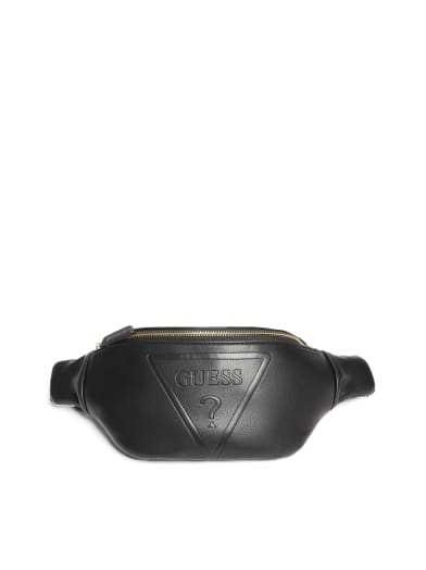 women  Gym Embossed Logo Waist Pack at Guess