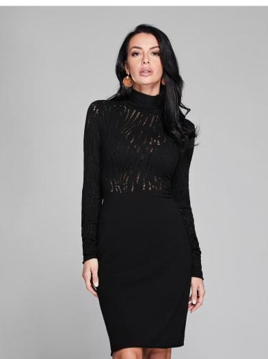 women  Demi Distressed Sweater Dress at Guess
