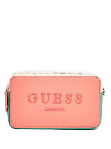 women Valery Double-Zip Camera Bag at Guess