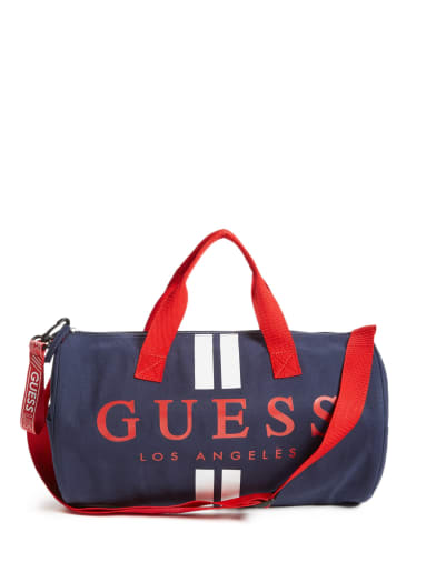 kids Canvas Stripe Duffle Bag at Guess