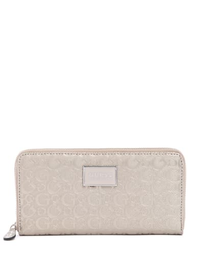 women  Akita Logo Zip-Around Wallet at Guess