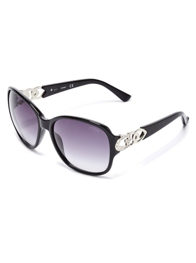 women  Oversized Chain-Trim Sunglasses at Guess