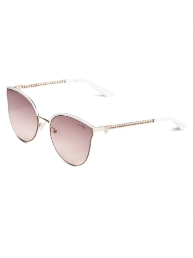 women  Brow Bar Tinted Sunglasses at Guess