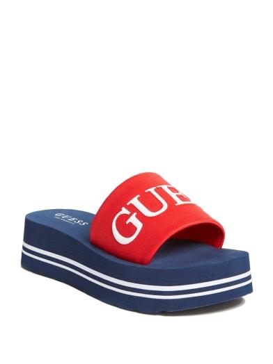 women  Ashlann Logo Flatform Sandals at Guess