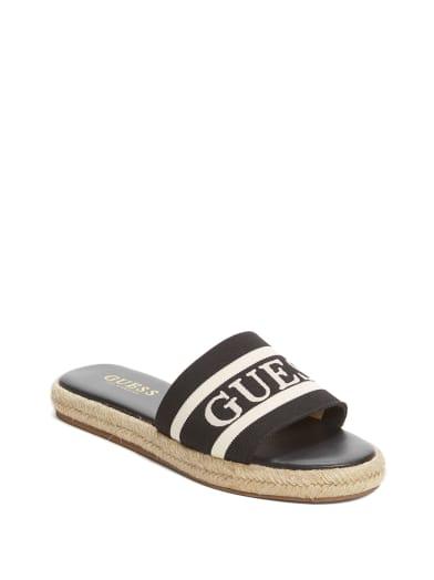 women  Carlita Espadrille Slide Sandals at Guess