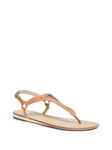women  Carmela T-Strap Sandals at Guess