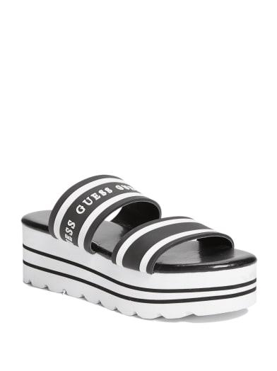women  Eastlin Flatform Sandals at Guess