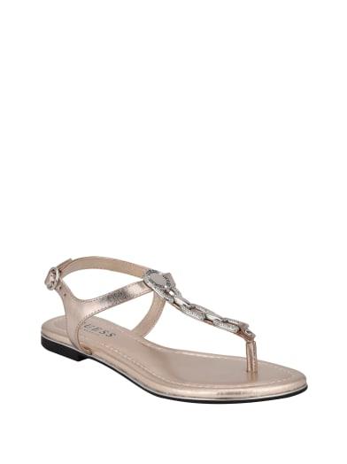 sale  Salla Rhinestone Chain Sandals at Guess