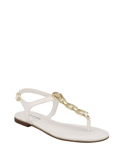 women  Salla Rhinestone Chain Sandals at Guess