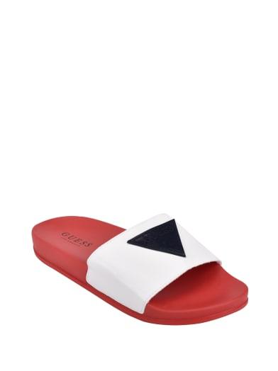 women  Ware Logo Slide Sandals at Guess