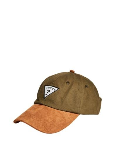 men  Faux-Suede Brim Hat at Guess