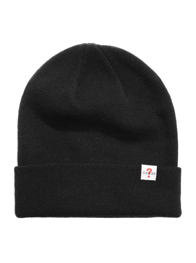 men  Classic Knit Beanie at Guess