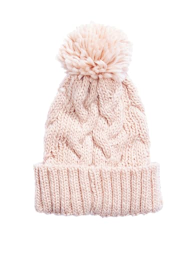 women  Glitter Knit Pom Beanie at Guess