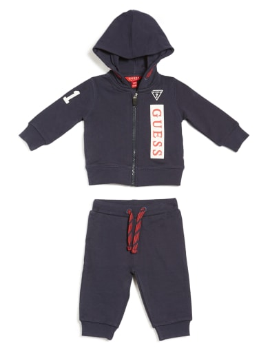 kids  Revel Hooded Active Set (0-24M) at Guess