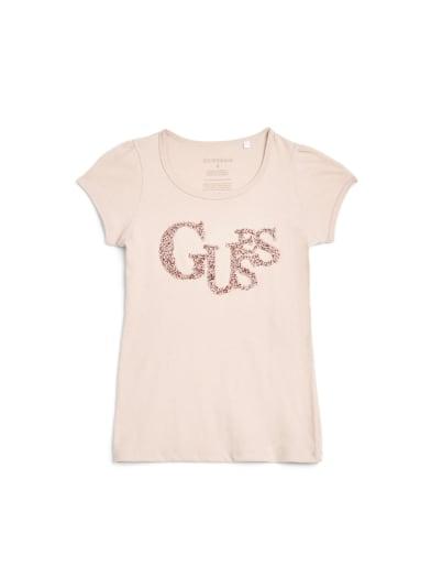 sale  Maya Beaded Logo Tee (7-16) at Guess