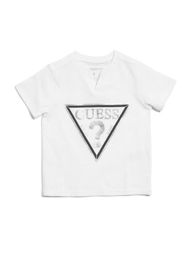kids  Barrington Triangle Logo Tee (2-6) at Guess