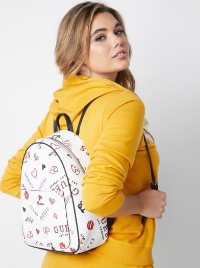 women  Fargo Logo Backpack at Guess