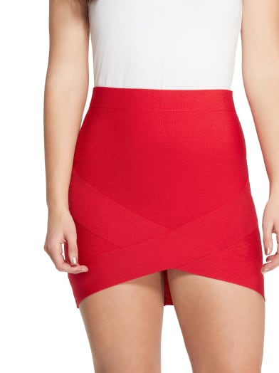women  Padma Asymmetrical Bandage Skirt at Guess