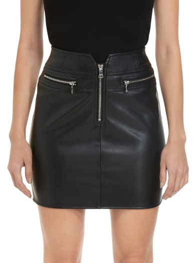 sale Lusita Faux-Leather Mini Skirt at Guess