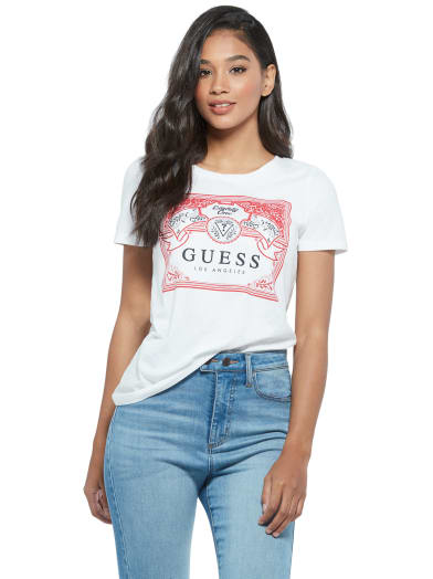 women  Dixon Logo Crewneck Tee at Guess