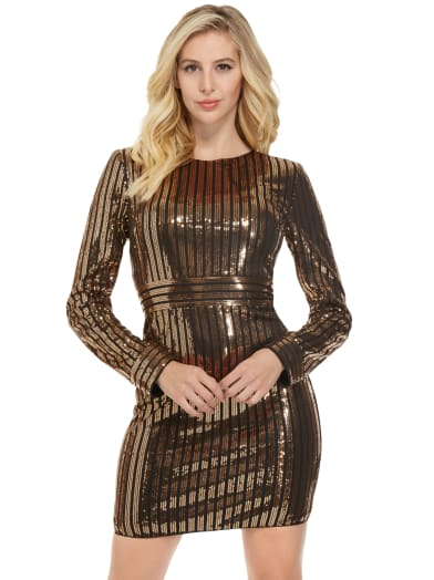women  Alexia Sequin Dress at Guess