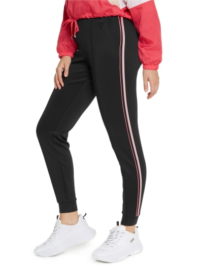 women Eryka Neon Striped Track Pants at Guess
