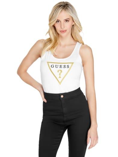 women  Quinta Triangle Logo Tank at Guess
