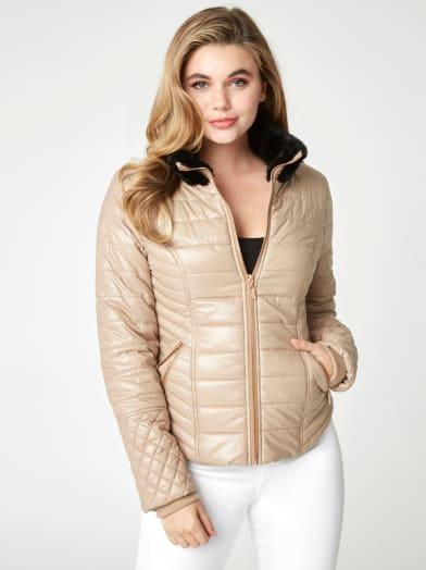 women  Colett Puffer Jacket at Guess