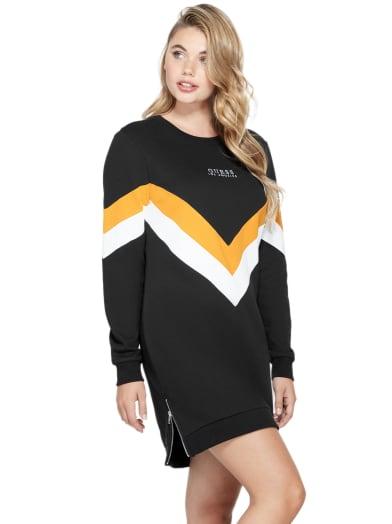 women  Nina Embroidered Logo Dress at Guess