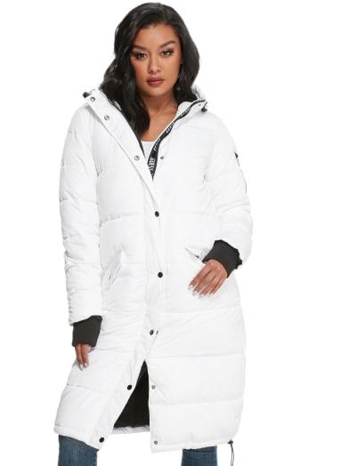 women  Dolma Long Puffer Jacket at Guess