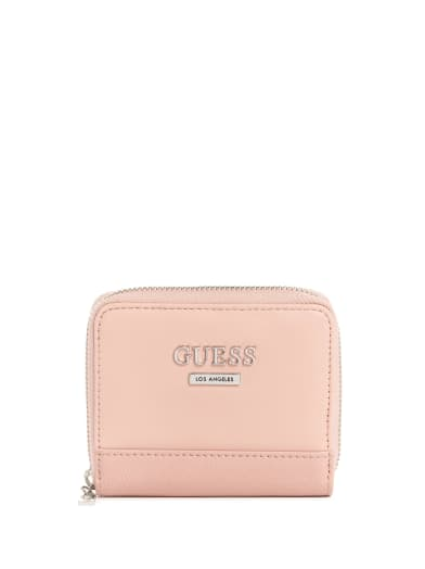 women  Meade Small Zip Wallet at Guess