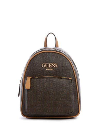 women Muze Logo Backpack at Guess