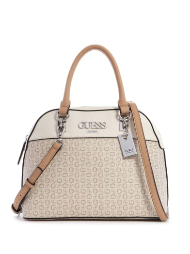 women  Muze Logo Dome Satchel at Guess