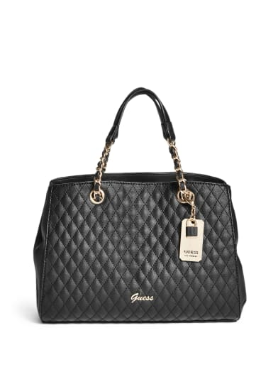 women  Love Bird Quilted Satchel at Guess