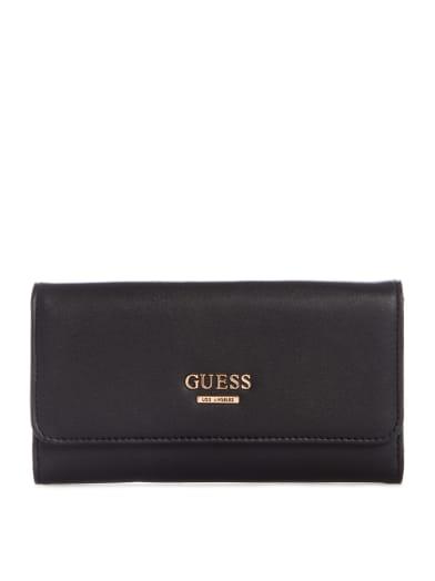 women  Mello Logo Slim Wallet at Guess