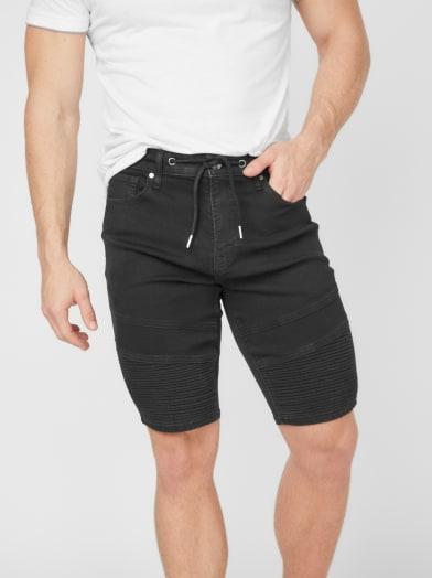 new-arrivals  Bradley Moto Denim Shorts at Guess