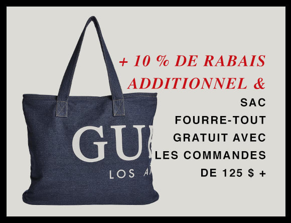 EXTRA 10% OFF AND FREE DENIM TOTE WITH ORDERS $125+