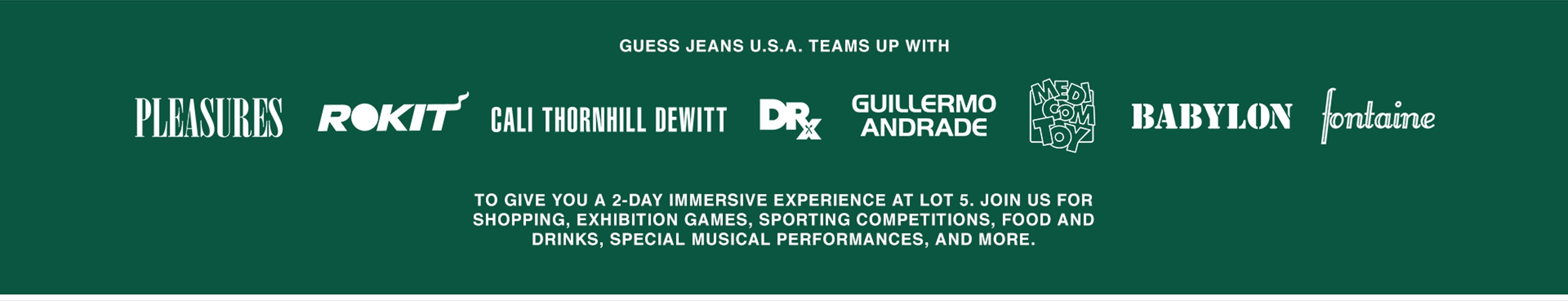 GUESS JEANS U.S.A Teams up with
