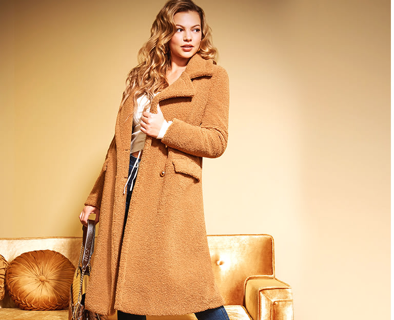 Women's trench & wool blend coats and jackets