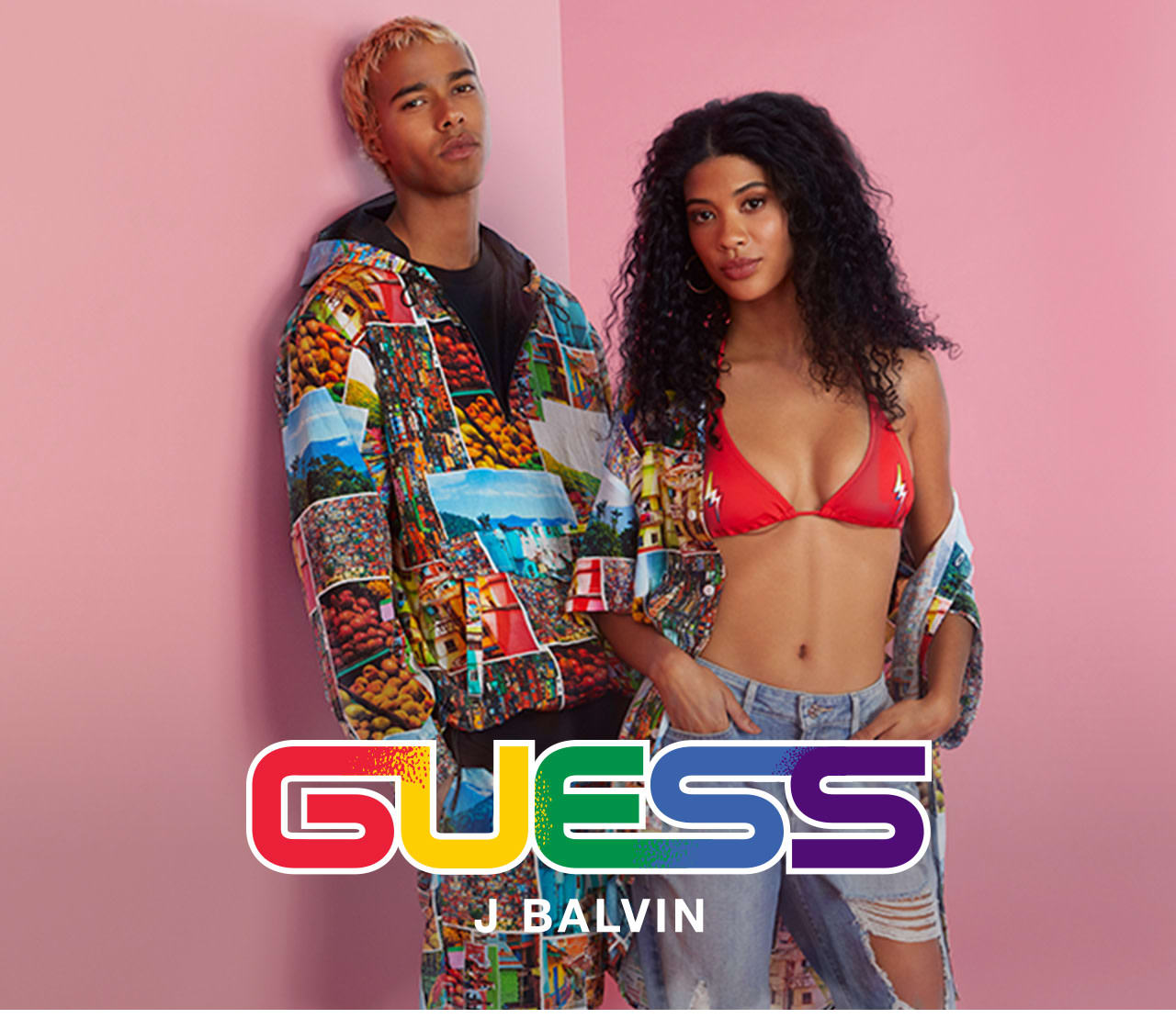 GUESS x J Balvin Colores collection for women and men