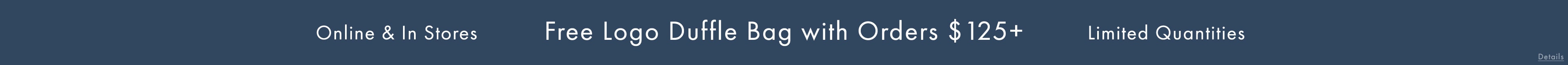 Free Logo Duffle Bag