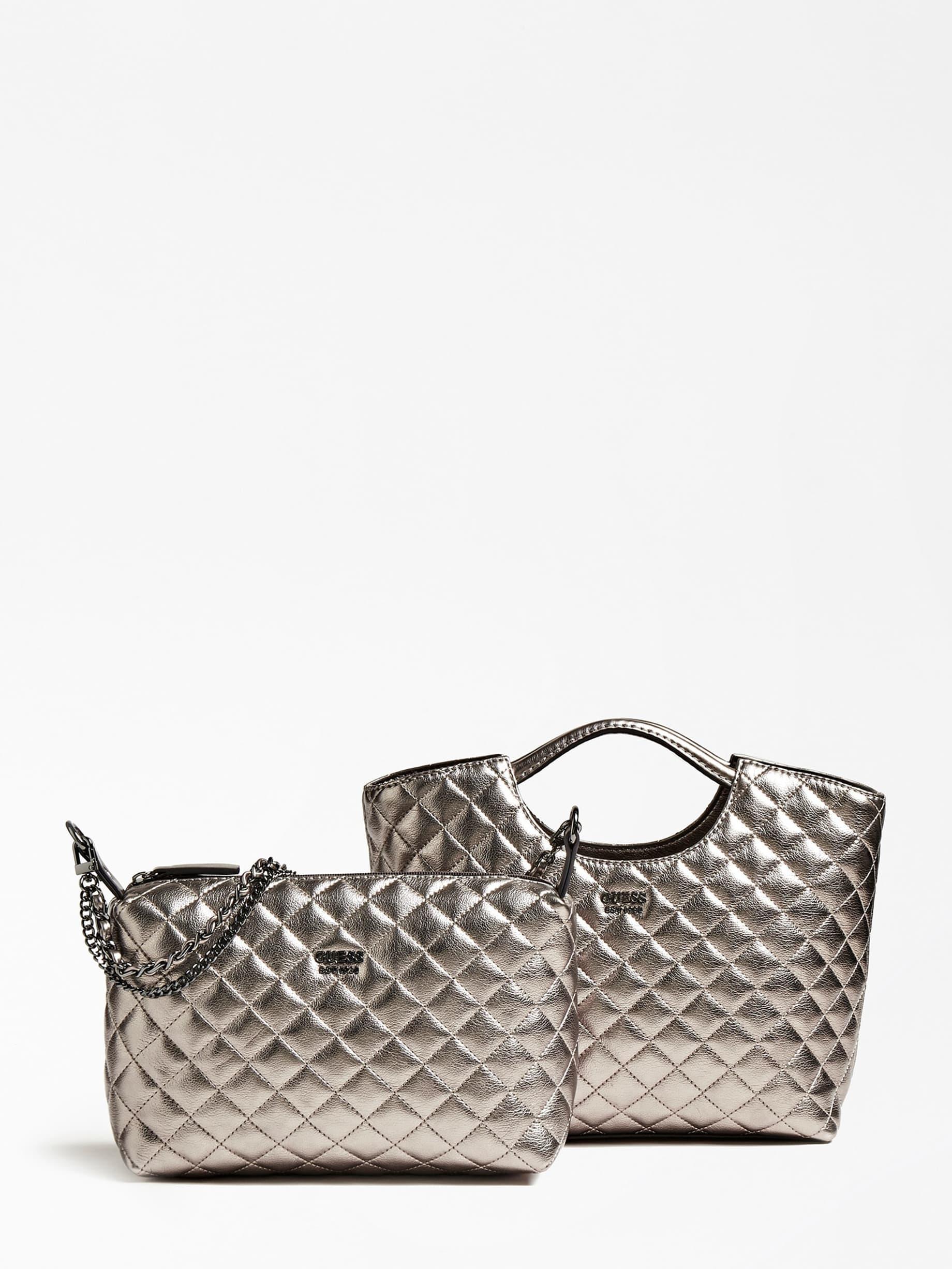 Shopper Miriam Effetto Trapuntato Pochette