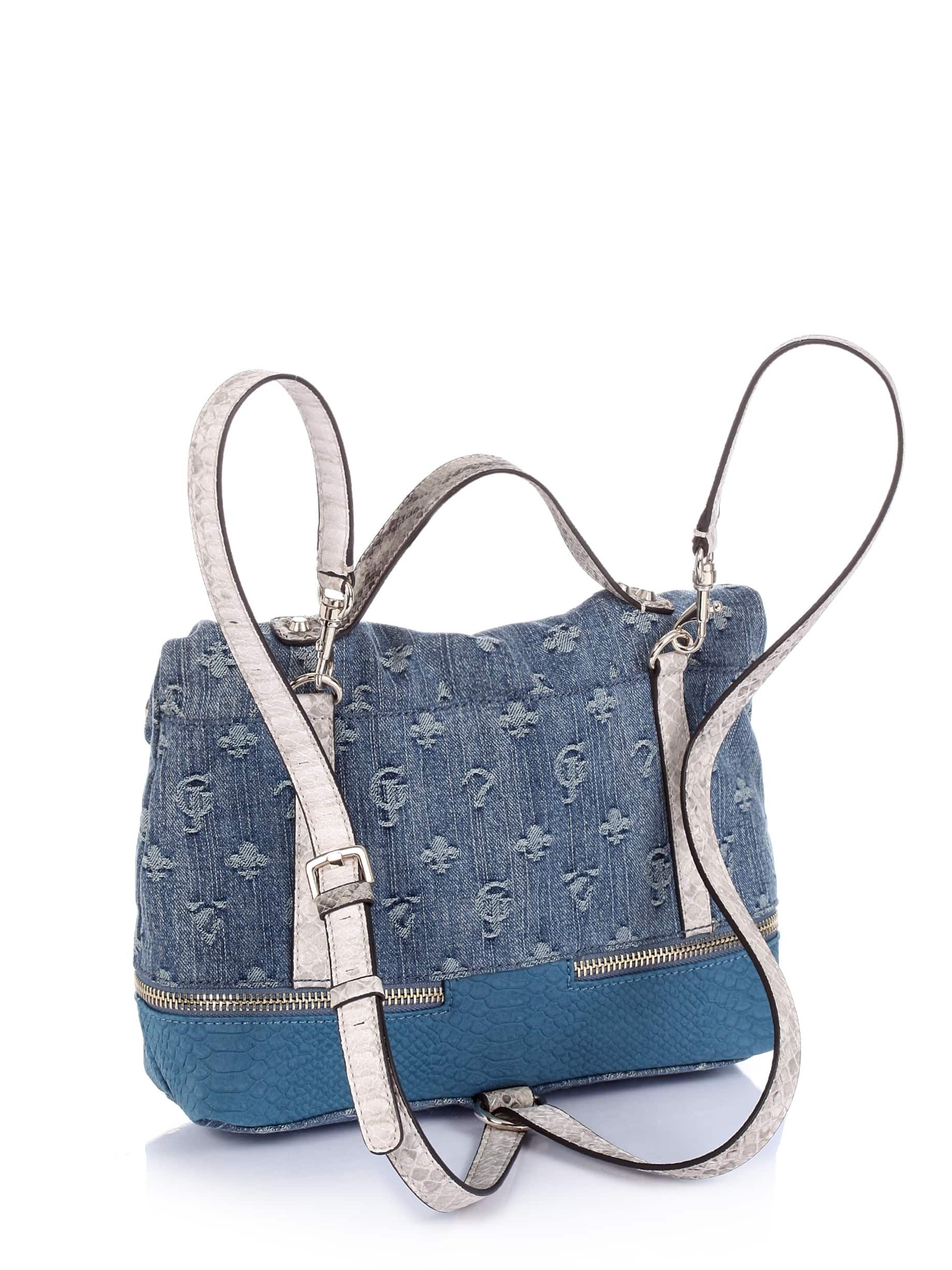 Dylan Denim Flap Pak Bag | GUESS.eu