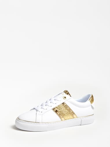 Gold GUESS Low sneakers BRIGS