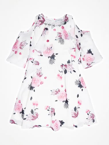 Canotta bambina guess stampa floreale rosa scuderi store