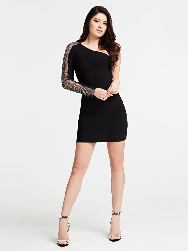 Robe Marciano Manches Maille Metal