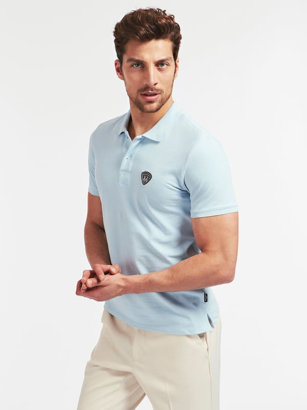 GUESS Marciano Baumwollstretch-Poloshirt