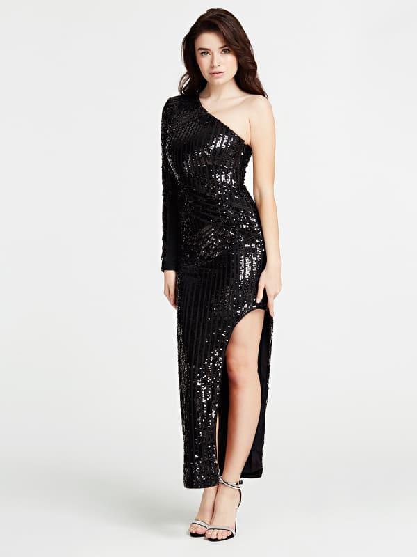 Langes One-Shoulder-Kleid Marciano | Bekleidung > Kleider > One Shoulder-Kleider | Marciano Guess